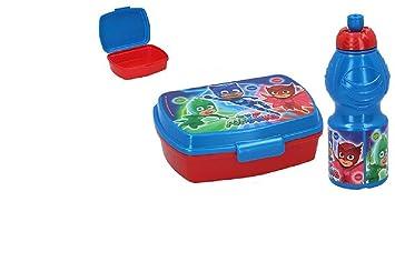 Colorbaby, 76947, botella agua y sandwichera pj masks, producto de plastico libre bpa: Amazon.es: Juguetes y juegos