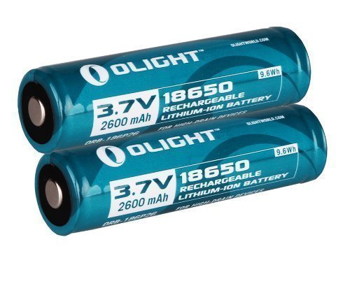 Olight 2600Mah Protected 18650 Rechargeable Li-Ion Batteries 2