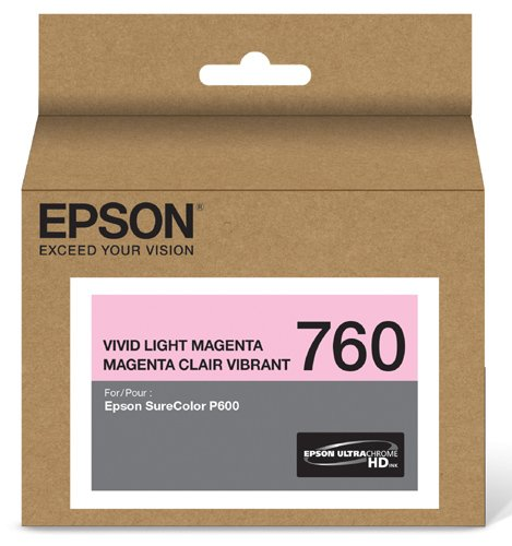 - Epson T760620 UltraChrome HD Vivid Light Magenta Standard Capacity Cartridge Ink