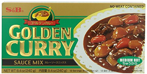 S&B Medium Hot Curry Mix Sauce 8.4 Oz. Pack of 2