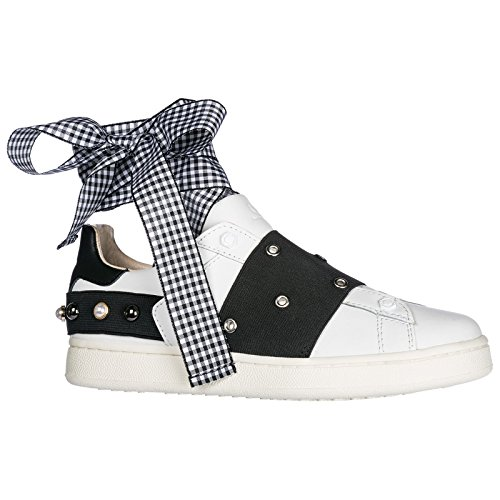 Blanc Master of Sneakers Femme Arts on MOA Slip Cuir en UfFqxqz
