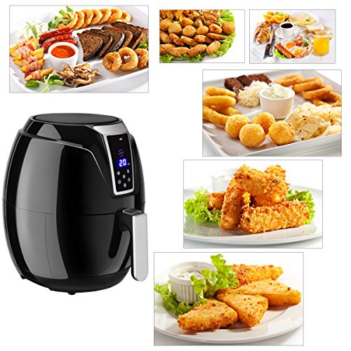 Costzon Electric Air Fryer, 3.4 Quart 1400W, Healthy Oil Free Cooking, 7-In-1 Electric Deep Cooker with LCD Touch, Temperature and Time Control, Dishwasher Safe, Detachable Basket Handle by Costzon (Image #5)