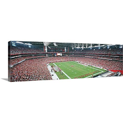 GREATBIGCANVAS Gallery-Wrapped Canvas Entitled High Angle View of Spectators in University of Phoenix Stadium, Phoenix, Arizona by Panoramic Images 48