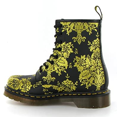 823776f6ae7f Dr.Martens 1460 Glitter Flocking Black Gold Womens Boots: Amazon.co.uk:  Shoes & Bags