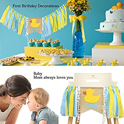Waouh High Chair Banner For 1st Birthday First Birthday Decorations For Photo Booth Props Birthday Souvenir And Gifts For Kids Best Party Supplies