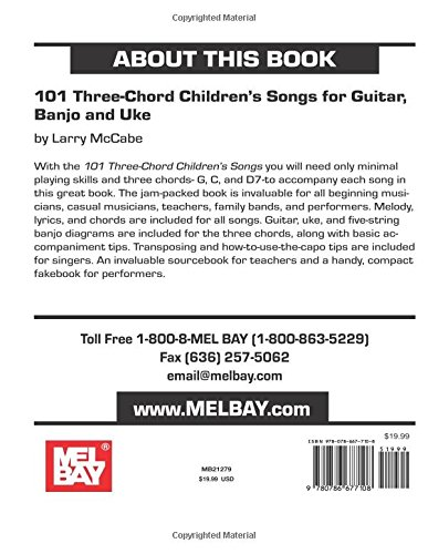 Amazon 101 Three Chord Childrens Songs For Guitar Banjo And