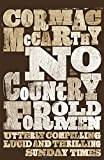 Front cover for the book No Country for Old Men by Cormac McCarthy
