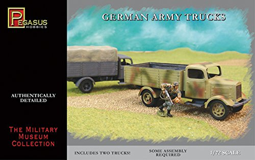 German Army Trucks (2) (Snap Kit) 1-72 Pegasus
