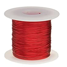 """Remington Industries 24SNSP 24 AWG Magnet Wire, Enameled Copper Wire, 1.0 lb., 0.0221"""" Diameter, 803' Length, Red"""