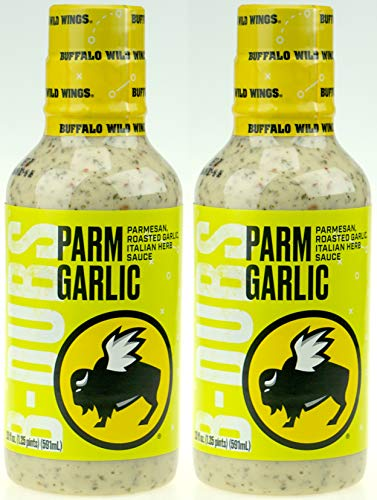 Buffalo Wild Wings Barbecue Sauce - Parm Garlic - 20 Fl. Oz. (2 Pack) (Best Wing Sauce At Buffalo Wild Wings)