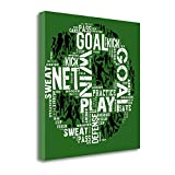 ''Soccer - Green'' By Jim Baldwin, Fine Art Giclee Print on Gallery Wrap Canvas, Ready to Hang