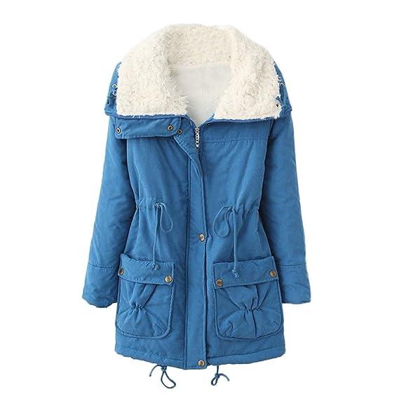 Lange Down Warm Jacke Mantel Damen Luckycat Pelz Kragen Turn nN80vmOw