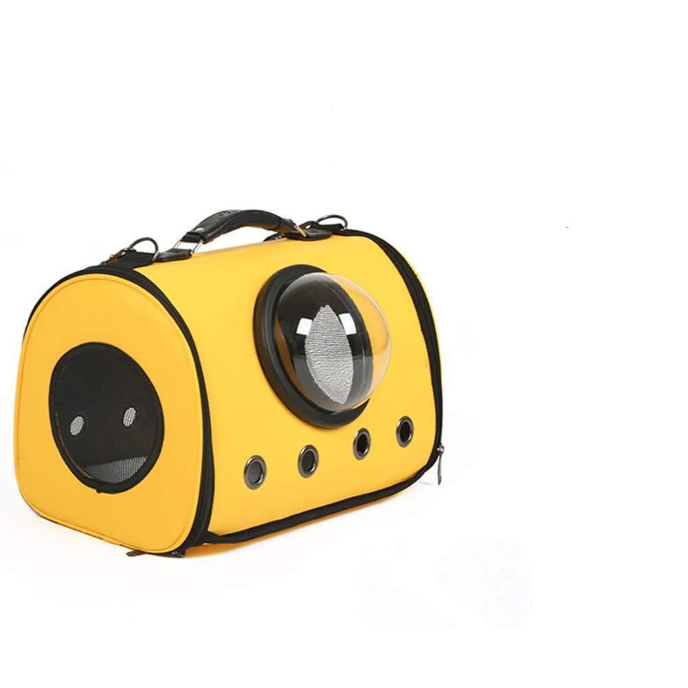 MdtgrSrltfh Burbuja de port/átil Pet Carrier,C/ápsula de Espacio Impermeable Respirable Transparente Malla Transporte Mochila para Cachorro de Perro de Gato de Viaje G M