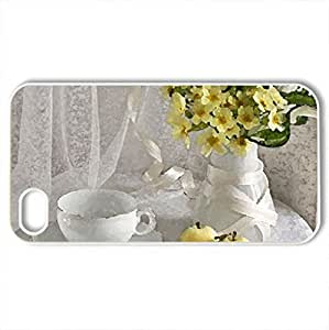 Spring still life - Case Cover for iPhone 4 and 4s (Flowers Series, Watercolor style, White)