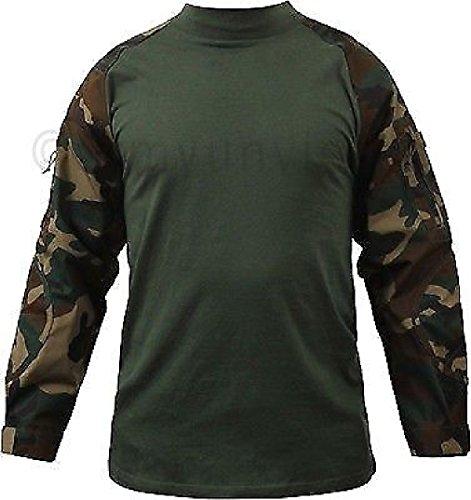 (Woodland Camouflage Heat Resistant Lightweight Combat Shirt)