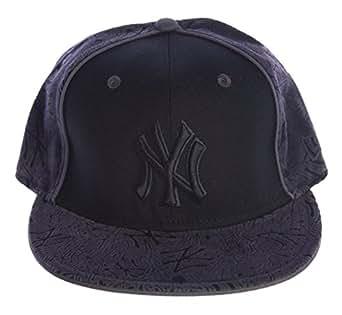 NEW ERA 59FIFTY Velvet NY Yankees Hat Sz 7 3/4 Black/Grey