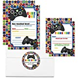 Deluxe Video Gamer Birthday Party Bundle, Includes 20 Each of 5