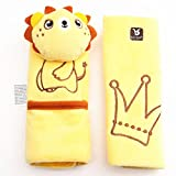 Baby Child Stroller Car Seat Safety Belt Strap Cover Pad Cushion Shoulder Holder (Yellow Lion)