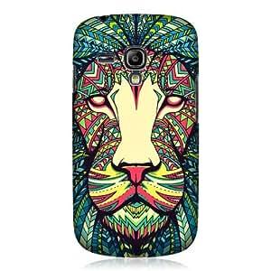 AIYAYA Samsung Case Designs Lion Aztec Animal Faces Hard Back Case Cover For Samsung Galaxy S3 III mini I8190