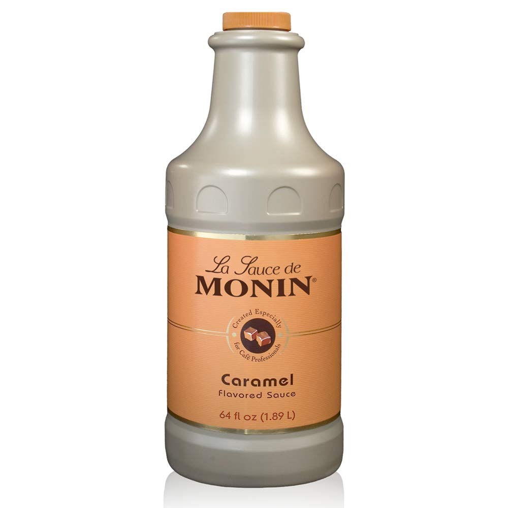 Amazon Com Monin Gourmet Caramel Sauce Rich And Buttery Great For Desserts Coffee And Snacks Gluten Free Non Gmo 64 Fl Oz Dessert Topping Sauces Grocery Gourmet Food