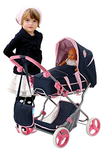 Amazon.com: Hauck Classic Navy Doll Julia Pram Playset: Toys & Games