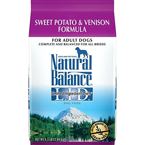 Natural Balance L.I.D. Limited Ingredient Diets Dry Dog Food, Grain Free, Sweet Potato & Venison Formula, 4.5-Pound