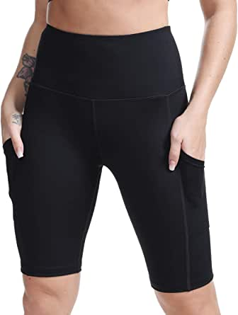 TYUIO High Waisted Workout Shorts for Women Running Biker Yoga Shorts with Pockets