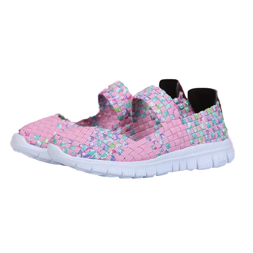 check out 9d1e6 a33c0 DoGeek Schuhe Damen Gewebte Schuhe Handgemachte Geflochten Leichte Sandalen  Damen Elastisch Wanderschuhe Sommerschuhe Damen