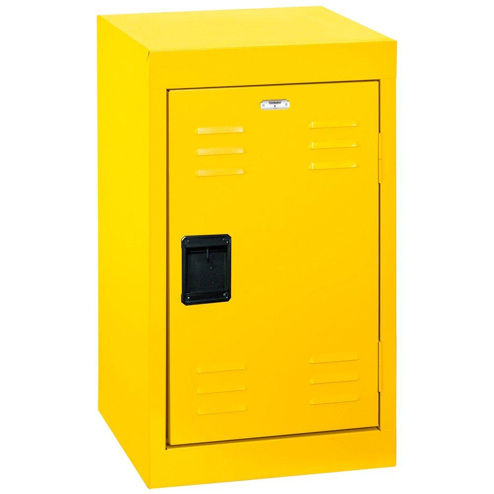 Sandusky Lee Kids Locker, LF1B151524-EY Single Tier Welded Steel Locker, 24''
