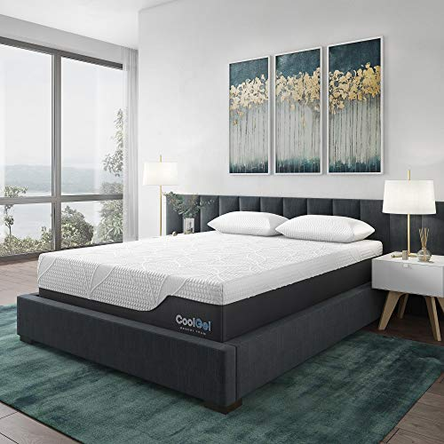 Classic Brands Cool Gel 2.0 Ultimate Gel Memory Foam 14-Inch Mattress with BONUS 2 Pillows, Queen (Best Foundation For Memory Foam Mattress)