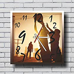 FBA The walking dead 11.4'' Handmade Wall Clock - Get unique décor for home or office – Best gift ideas for kids, friends, parents and your soul mates