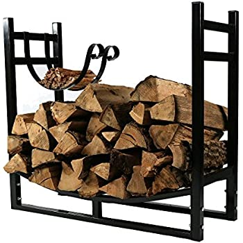 Amazon.com: HollyHOME Heavy Duty Firewood Racks 3 Feet Indoor ...