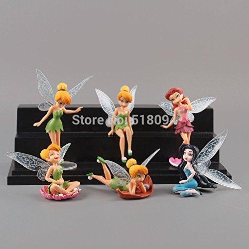 Anime Cartoon (5-10cm 6pcs/set) Tinkerbell Fairy PVC Action Figure Toys Girls Dolls