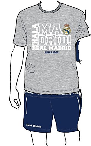Pijama REAL MADRID Adulto Oficial Gris 1902 Talla XL