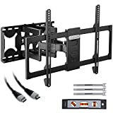 TV Wall Mount Bracket Tilt Swivel for 32-70 Inch LED LCD Flat Screen TVs with HDMI Cable Max Load 60 KG VESA Size 600 x 400 mm by Stagiant