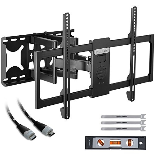 Price comparison product image TV Wall Mount Bracket Tilt Swivel for 32-70 Inch LED LCD Flat Screen TVs with HDMI Cable Max Load 60 KG VESA Size 600 x 400 mm by Stagiant