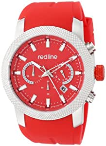 red line Men's RL-10017-05 Gauge Stainless Steel Watch with Red Band