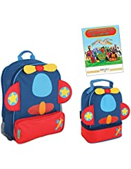 Stephen Joseph Sidekicks Backpack and Lunch Pals School Bag Set