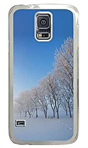 Samsung Galaxy S5 Landscapes Snow Trees PC Custom Samsung Galaxy S5 Case Cover Transparent