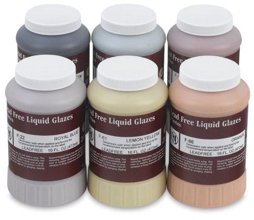AMACO F-Series Glaze Classroom Pack, Assorted Colors, Set of 6 Pints
