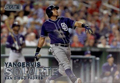 2016 Topps Stadium Club #52 Yangervis Solarte San Diego Padres Baseball (San Diego Padres Stadium)