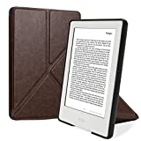 Leafbook Origami Case for All-New Kindle E-reader (8th Generation 2016) - The Thinnest and Lightest  Cover with Auto Wake/Sleep for Amazon Kindle (6 Display,8th Gen 2016 Release),Deep brown