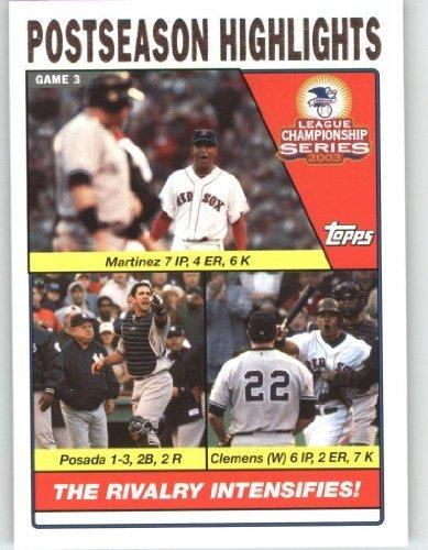 2004 Topps Baseball Card # 354 Pedro Martinez - Jorge Posa