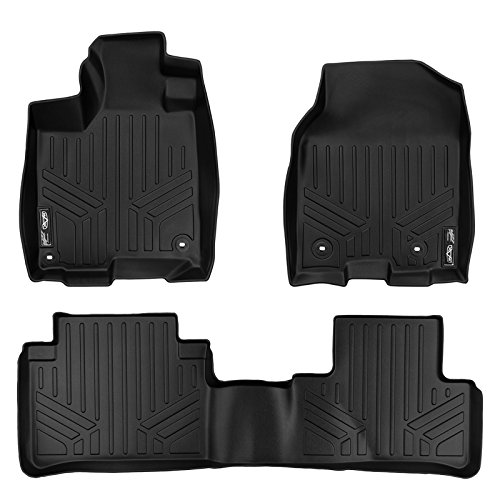 (SMARTLINER Floor Mats 2 Row Liner Set Black for 2013-2018 Acura RDX With 8-Way Front Passenger Seat)