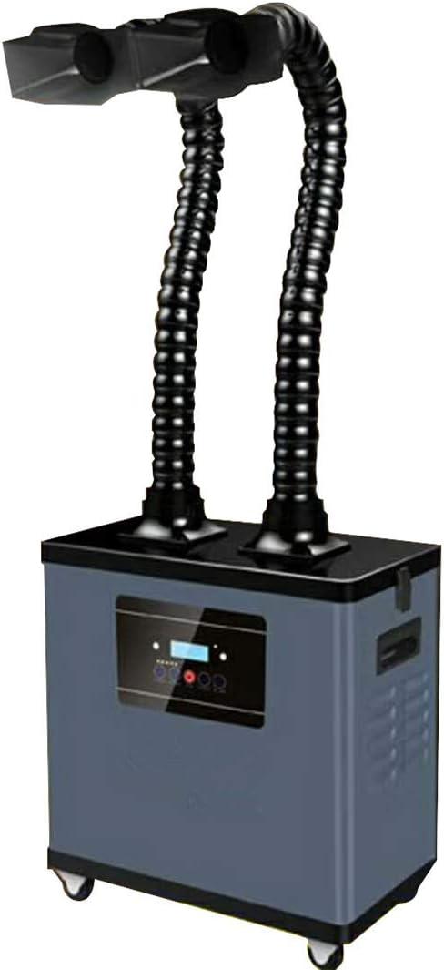 BAOSHISHAN Extractor de humos soldadura filtros humos extractor móvil de soldadura digital para estación de soldadura ESD con sistema de dos brazos