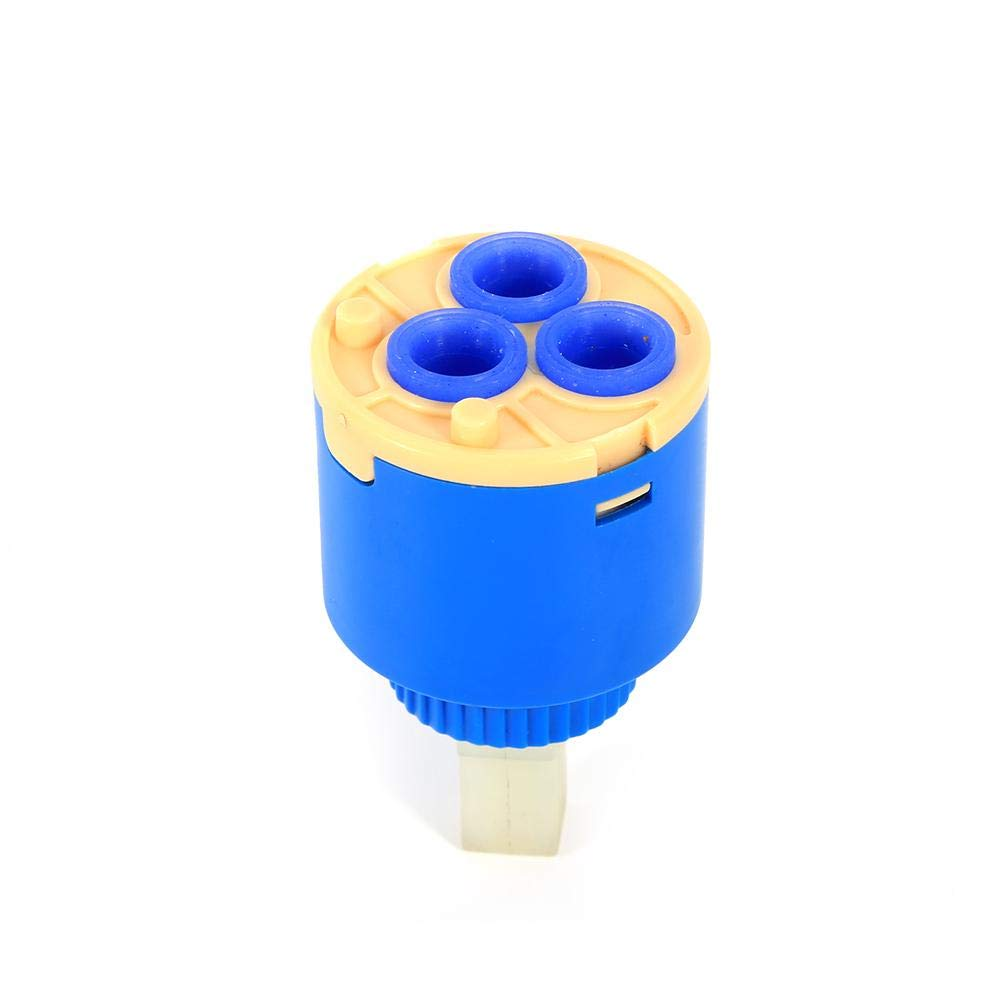 35mm Akozon Cartucho de Disco de cer/ámica Cartucho de cer/ámica de 35//40 mm Mezclador de Agua Grifo V/álvula de Grifo de Control Interno PP Pl/ástico Azul Pr/áctico