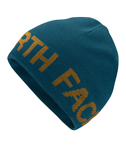(The North Face Reversible TNF Banner Beanie Kodiak Blue/Golden Brown Size One Size)