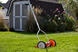 American Lawn Mower Company 1204-14 14-Inch 4-Blade Push Reel Lawn Mower, Red
