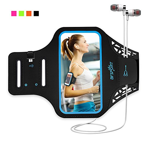 Lvits Workout Sport Running Armband Exercise Outdoor Touch Screen Phone Case Pouch w/Key Holder for Galaxy S9 Plus, A7 2017 / Moto Z4, G7, E5 Play, Z2 Force/iPhone Xs Max/Google Pixel 3 XL, 3a (5.5)