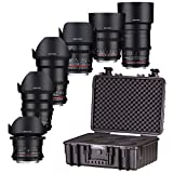 Samyang 7413 VDSLR Lens Kit for Canon EF Mount Camera - Black
